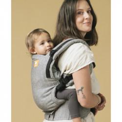 Tula Linen Free to Grow Ash marsupio neonato