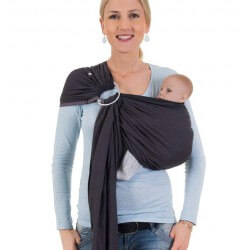 HOPPEDIZ Ring Sling London Nero Grigio