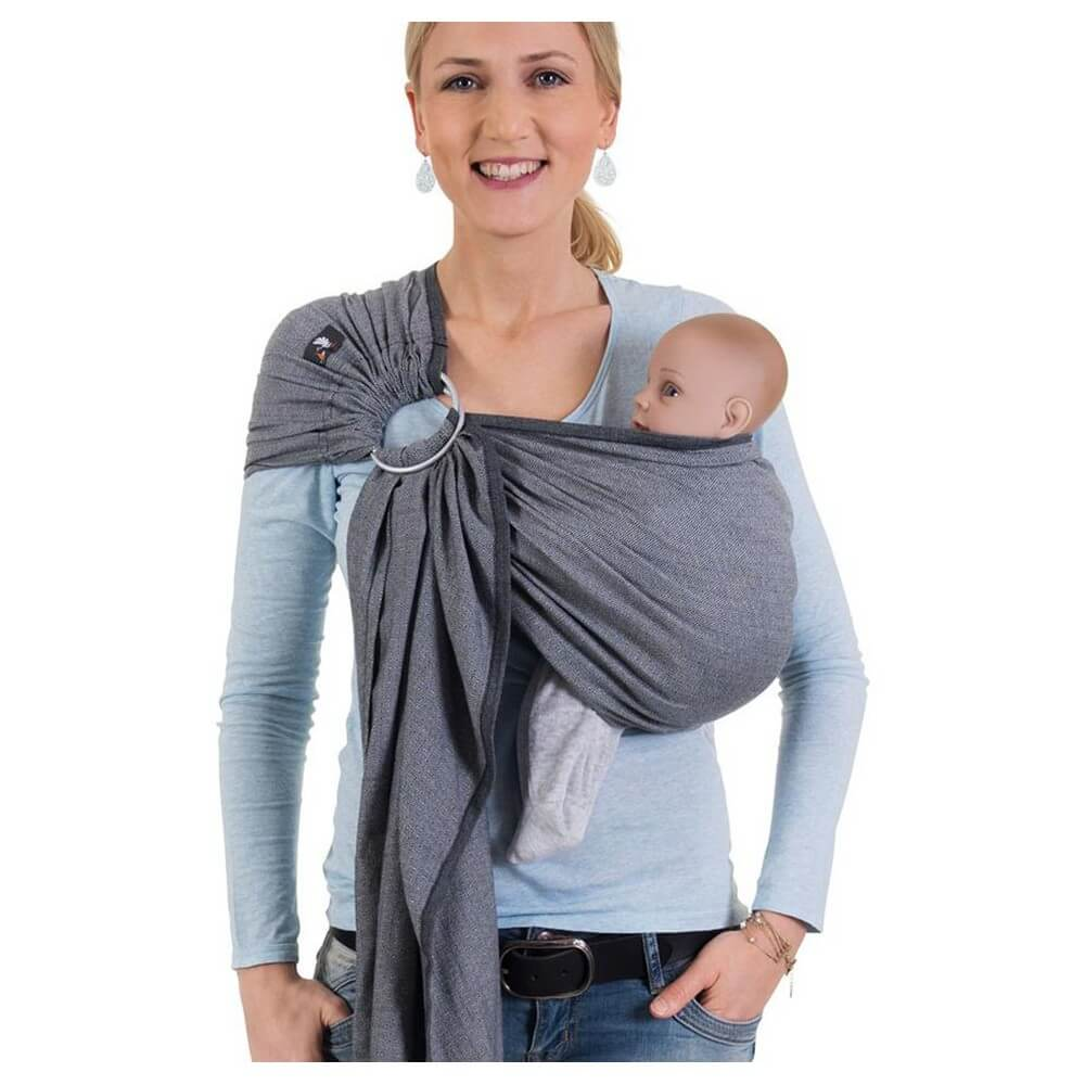 HOPPEDIZ Ring Sling London Nero Bianco